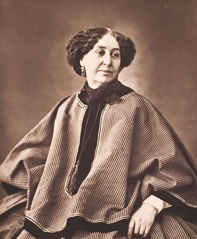 Nadar, 'George Sand from publication, Album de la Galerie Contemporare', ca. 1876