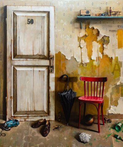 Dmitry Yuzefovich, 'Door No. 50 - Vibrant still life oil on canvas', 2020