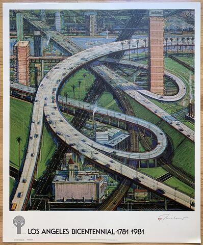 Wayne Thiebaud, 'Los Angeles Bicentennial, 1781-1981', 1980
