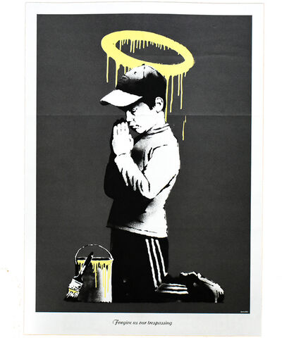 Banksy, 'FORGIVE US OUR TRESPASSING', 2010