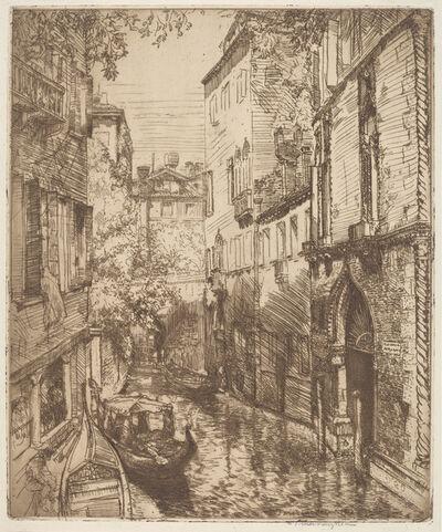 Donald Shaw MacLaughlan, 'Rio delle Verona, Venice', 1912