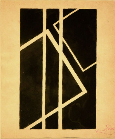 František Kupka, 'Black Geometrical Composition', 1950