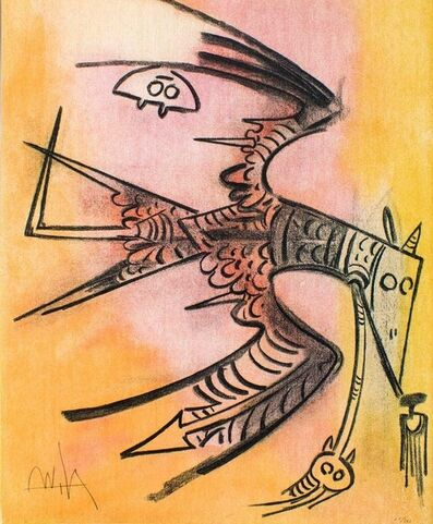 "Wifredo Lam, 'Lune Haute - from the suite ""Pleni Luna""', 1974"