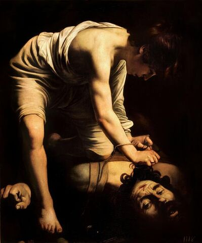 Michelangelo Merisi da Caravaggio, 'David victorious over Goliath', 1600