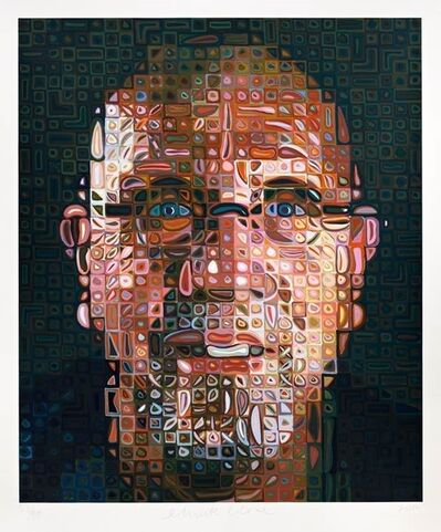 Chuck Close, 'Self-Portrait Screenprint ', 2012