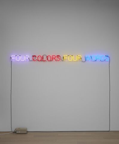 Joseph Kosuth, ''Four Colors Four Words'', 1966