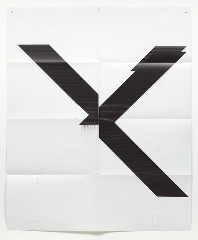 Wade Guyton, 'Untitled X poster', 2015