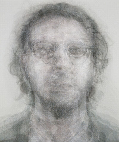 Doug Keyes, 'Chuck Close, B&W', 2014