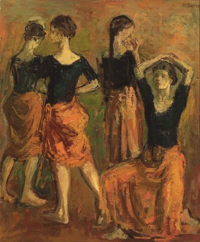 Moses Soyer, 'Four Dancers in Orange', ca. 1940