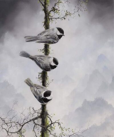 Brian Mashburn, 'Three Chickadees', 2021