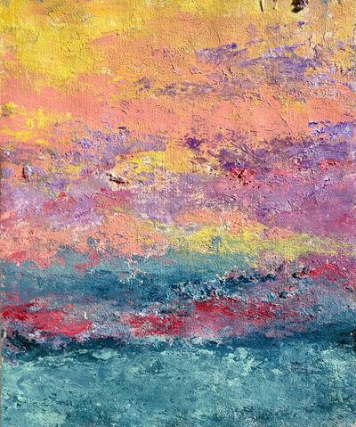 Victoria Borisova, 'Sunset over Miami II(Framed 9x11 in)', 2017