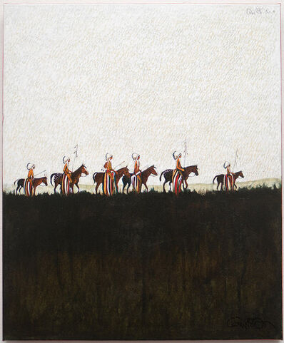 Kevin Red Star, 'Parade of Indian Chiefs', 2019