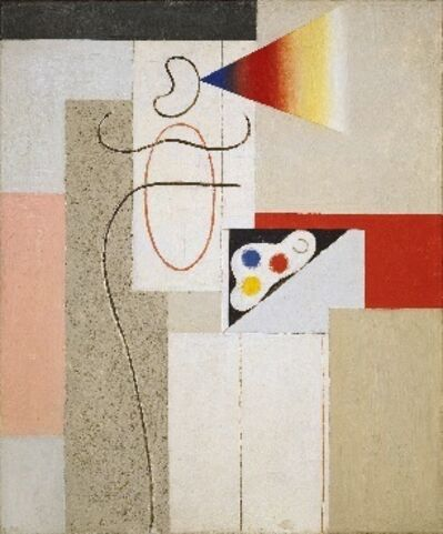 Willi Baumeister, 'Painter and palette', 1929