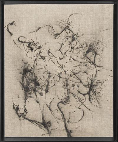 Pierre Vermeulen, 'Hair orchid sweat print drawing II', 2018