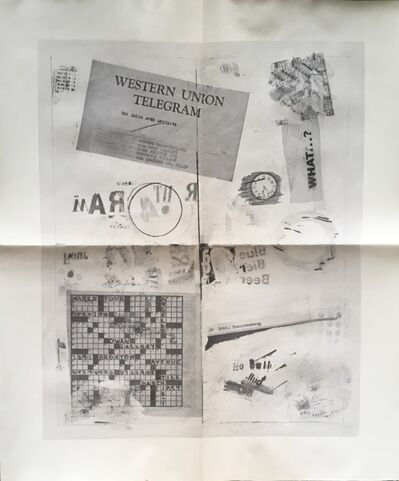 Robert Rauschenberg, 'Western Union Telegram (Historic Dwan Gallery Poster Invite)', 1962
