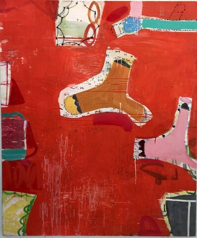 Gary Komarin, 'Rue Madame in Red'