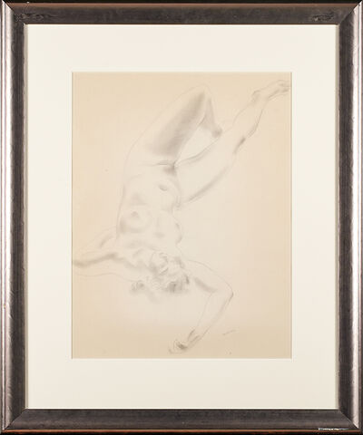 Ken Howard, 'Two graphite and charcoal female nude drawings on paper together with associated two-sided charcoal drawing on paper of a female nude'