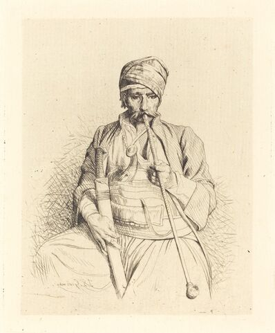 Jean-Léon Gérôme, 'Seated Arab with Pipe', ca. 1864