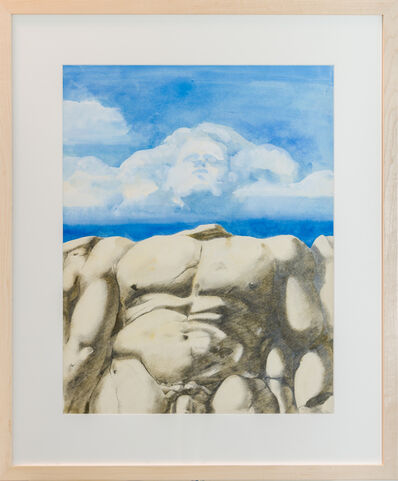 Paul Wonner, 'Fossil Giant, Head in Clouds', 1970