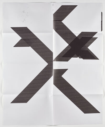 "Wade Guyton, 'X Poster (Untitled, 2007, Epson UltraChrome inkjet on linen, 84x69"", WG1210), 2018', 2018"