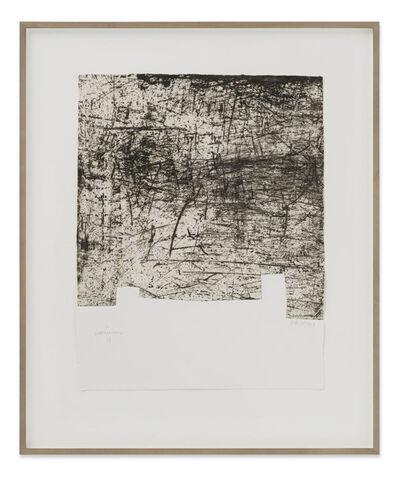 """Eduardo Chillida, 'Yves Bonnefoy: """"Une Hélène de Vent ou de Fumée"""" III ', 1990"""
