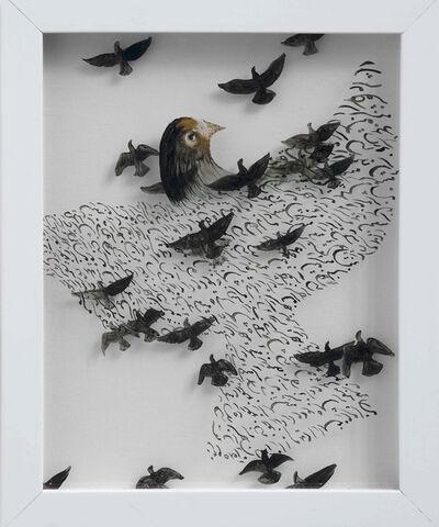 """Katayoun Rouhi, 'Language des oiseaux """"la Quete""""', 2014"""