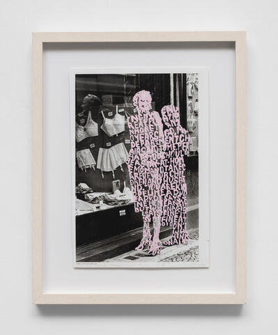 Betty Tompkins, 'Women words (Helmut Newton #17)', 2019