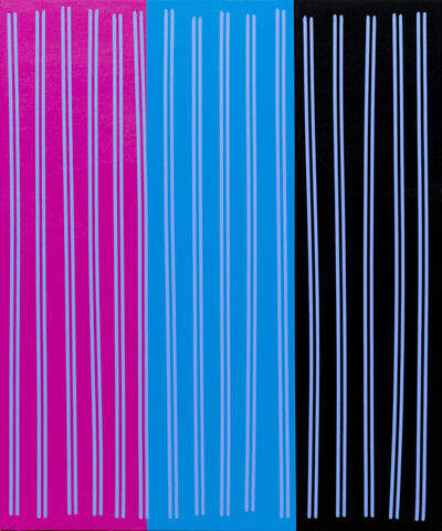 Bradley Harms, 'Simple Line Set (Mag/Blu/Blk)', 2014
