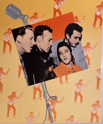 Dan Benesh, 'Elvis Presley and the Million Dollar Quartet Rare Silkscreen Print', 1980's
