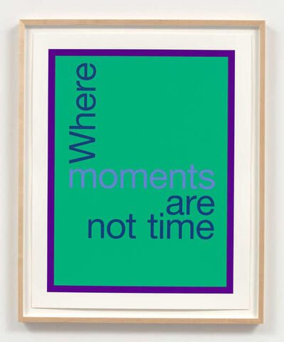 Renée Green, 'Where moments are not time', 2020