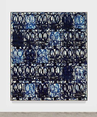 "Rashid Johnson, 'Bruise Painting ""Blue Bird""', 2021"
