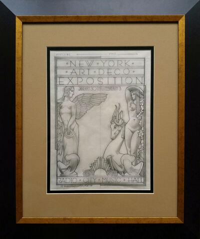 "David Edward Byrd, '""Radio City 1973 Art Deco Exposition original drawing""', 1973"