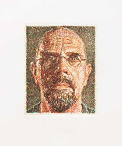 Chuck Close, 'Self-Portrait/Scribble/Etching', 2001