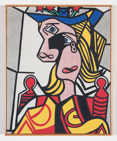 "Richard Pettibone, '""Roy Lichtenstein - Woman with Flowered Hat, 1963""', 1970"