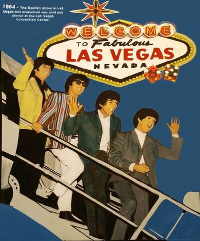 Steve Kaufman, 'THE BEATLES - WELCOME TO FABULOUS LAS VEGAS', 1995-2005