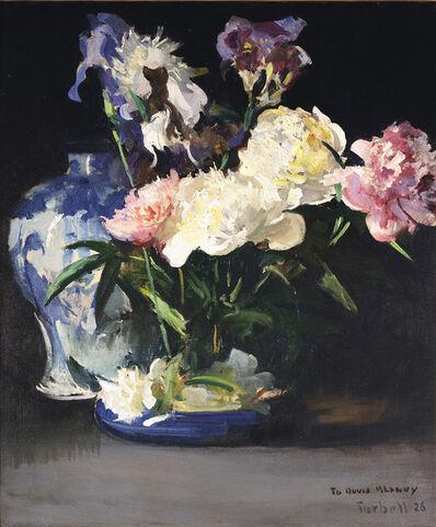 Edmund Charles Tarbell, 'Peonies and Iris', 1926