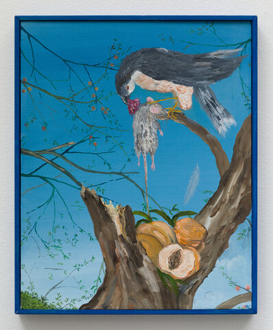 Morgan Mandalay, 'Still Life with Peaches, Hawk and Field Mouse (After Audubon and Courbet)', 2018