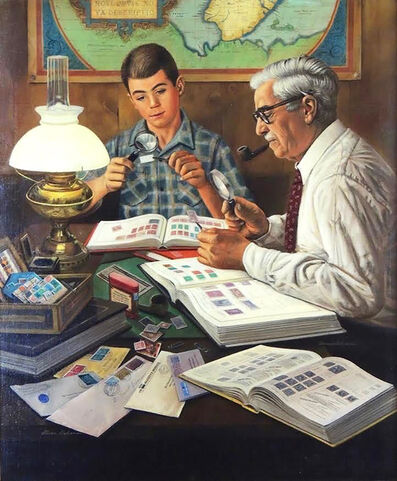 Stevan Dohanos, 'The Stamp Collector, Post Cover', 1954