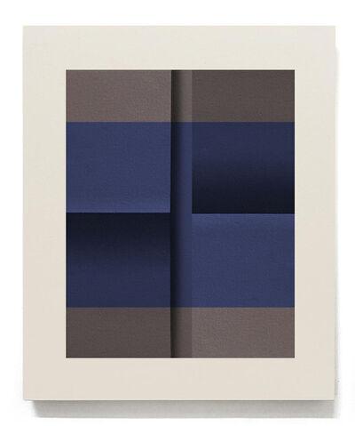 Senem Oezdogan, 'Blue on Brown II', 2018
