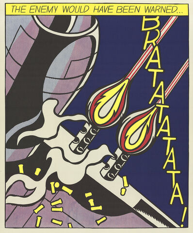 Roy Lichtenstein, 'The Enemy Would Have Been Warned (Panel 2)', 1964