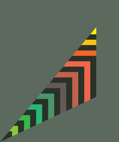 Gary Andrew Clarke, 'Stripey Scalene Triangle'