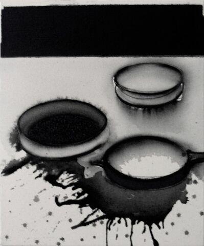 "Madhu Basu, 'Magma n°235, Acrylic & Pigment on canvas, Black, Grey by Indian Artist""In Stock""', 2019"