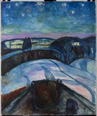 Edvard Munch, 'Starry Night II', 1922-1924