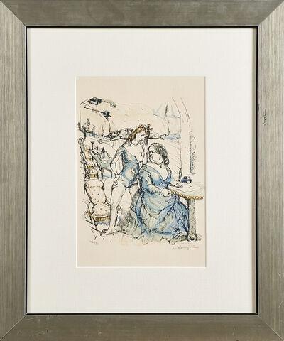 "Léonard Tsugouharu Foujita, '""Les Mesangeree, Deux Femmes""', 1963"