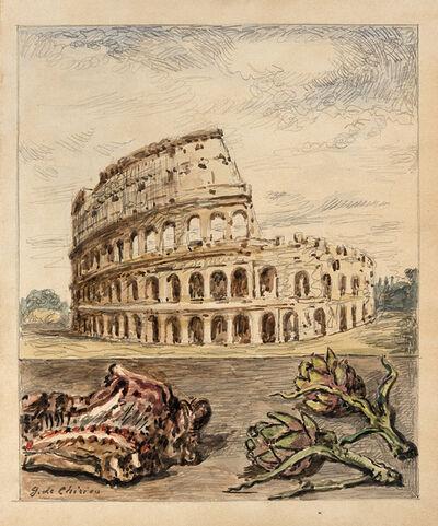 Giorgio de Chirico, 'Veduta di Roma con abbacchio e carciofi', 1966