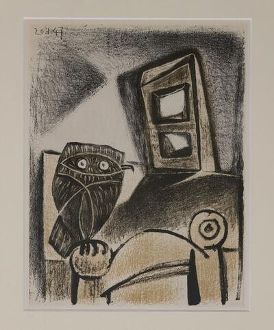 Pablo Picasso, 'Pablo Picasso, Hibu A La Chaise Fond Ocre, Lithograph 1947, Framed', 1947