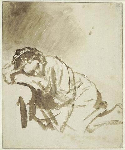 Rembrandt van Rijn, 'A young Woman sleeping (Hendrickje Stoffels)', about 1654