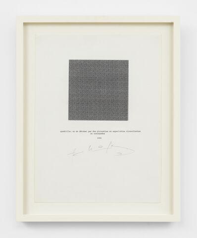 Henri Chopin, 'quadrille', 1992