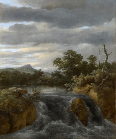 Jacob van Ruisdael, 'Landscape with Waterfall', ca. 1670