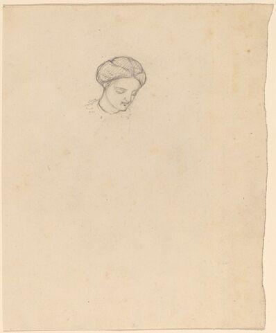 Elihu Vedder, 'Study of a Girl's Head', ca. 1858
